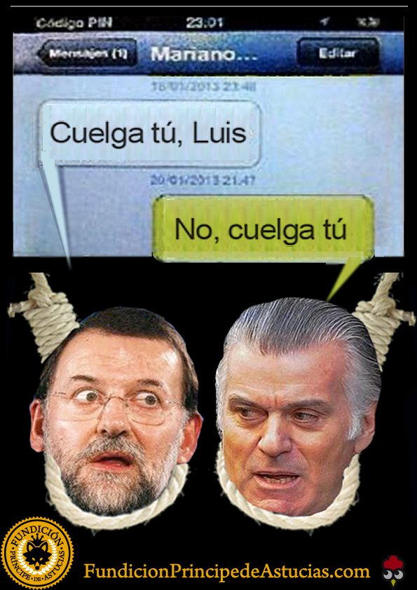 Gallota SMS Rajoy Barcenas