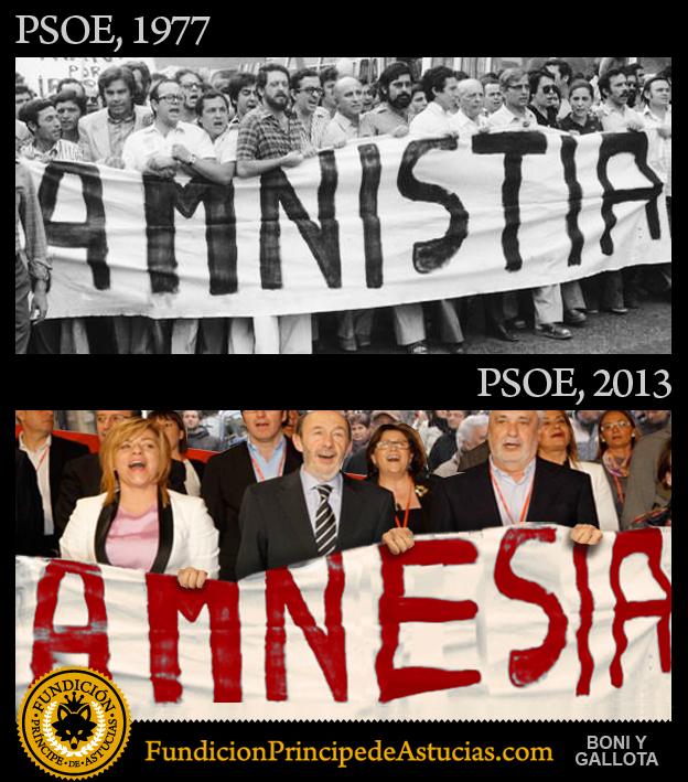 Gallota PSOE Amnistia Amnesia