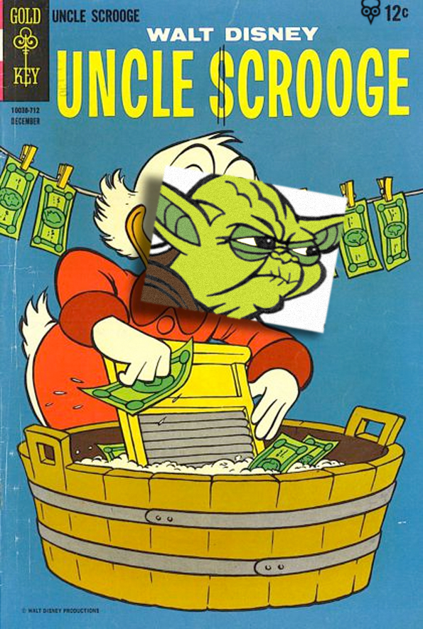 Gallota Scrooge Yoda Pujol