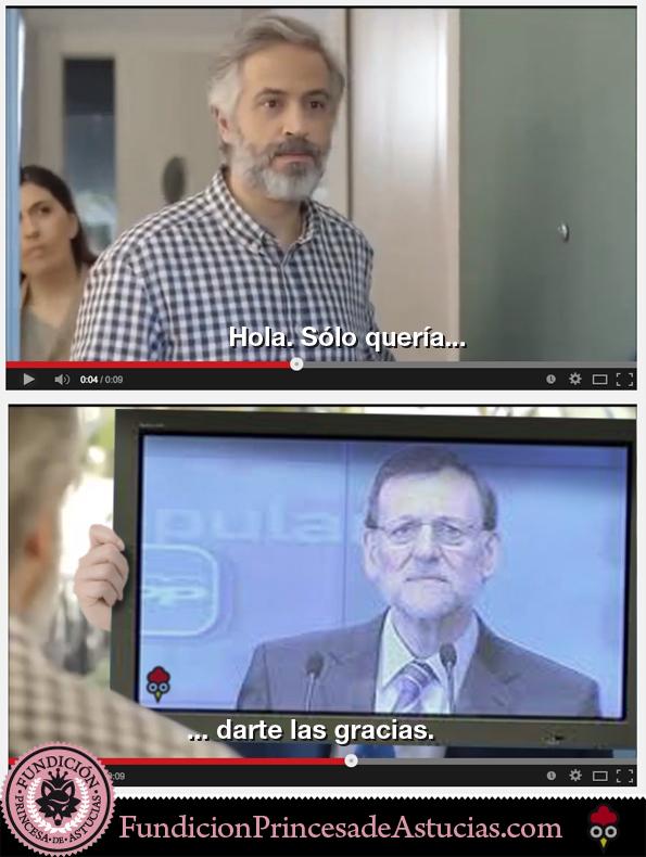 Gallota Rajoy darte las gracias