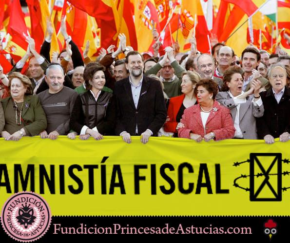 Gallota Pancarta Amnistia Fiscal
