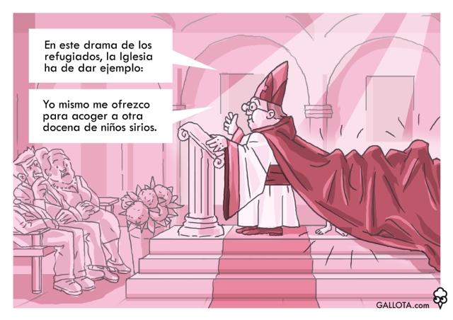 150907_GALLOTA Obispo Refugiados Sirios