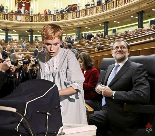Gallota Bebe Congreso Farrow Rajoy