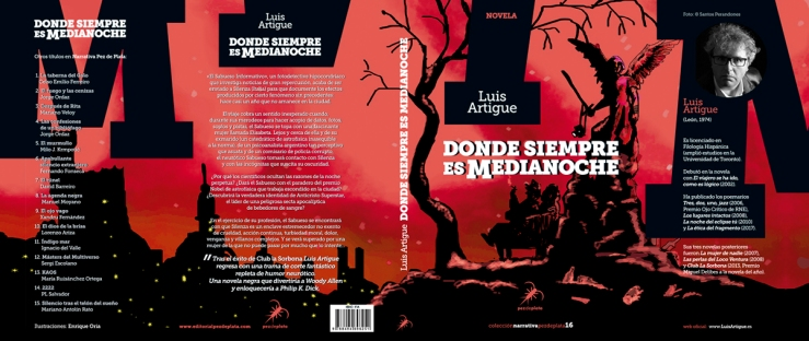 Cubierta_DONDE SIEMPRE ES MEDIANOCHE_Luis Artigue