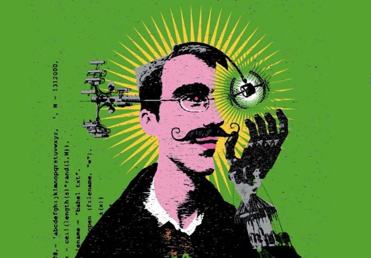 Ilustracion portada OLIVER PUNK